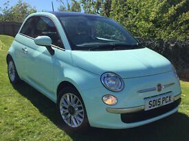 2015 Fiat 500 1.2 Lounge 3D 69BHP 29500 miles - Price lowered!