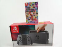 Nintendo Switch With grey Joy Cons (Boxed)