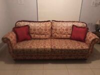 3 Piece Suite, 4 Seater Sofa and 2 Arm Chairs