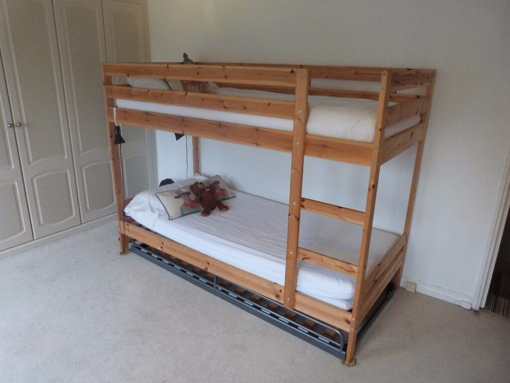 Bunk Bed Ikea Mydal And Pull Out Sleep 3 Almost New