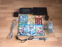 Nintendo Wii U 32GB Console Matte Black With 5 WII U Games in Great Condition