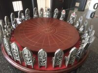 King Auther and the knights of the round table