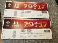 2x Tickets for Wales Vs Georgia @ the Principality Stadium, Cardiff. KO 14:30 on 18th November 2017