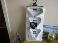 PACK OF 3 BRAND NEW WHITE SHIRTS. SIZE 19.5 COLLAR.