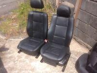 BMW E46 Touring Black Leather Interior