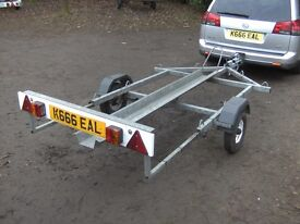 ARMITAGES SINGLE MOTORCYCLE TRANSPORTER CAR TRAILER FULLY GALVANISED..