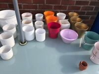 Job lot of plant pots