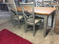 Brand New Oak Large Kitchen Dining Table & 4 Chairs