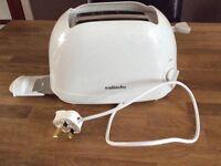Sabichi White 2 Slice Toaster