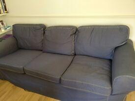 IKEA Ektorp three-seat sofa with Denim cover - Twickenham - Collections only