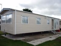 Caravan for hire on Lido Beach Prestatyn