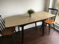Vintage Formica Extending Kitchen Dining Table