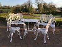 Aluminium & cast iron garden seats & benches