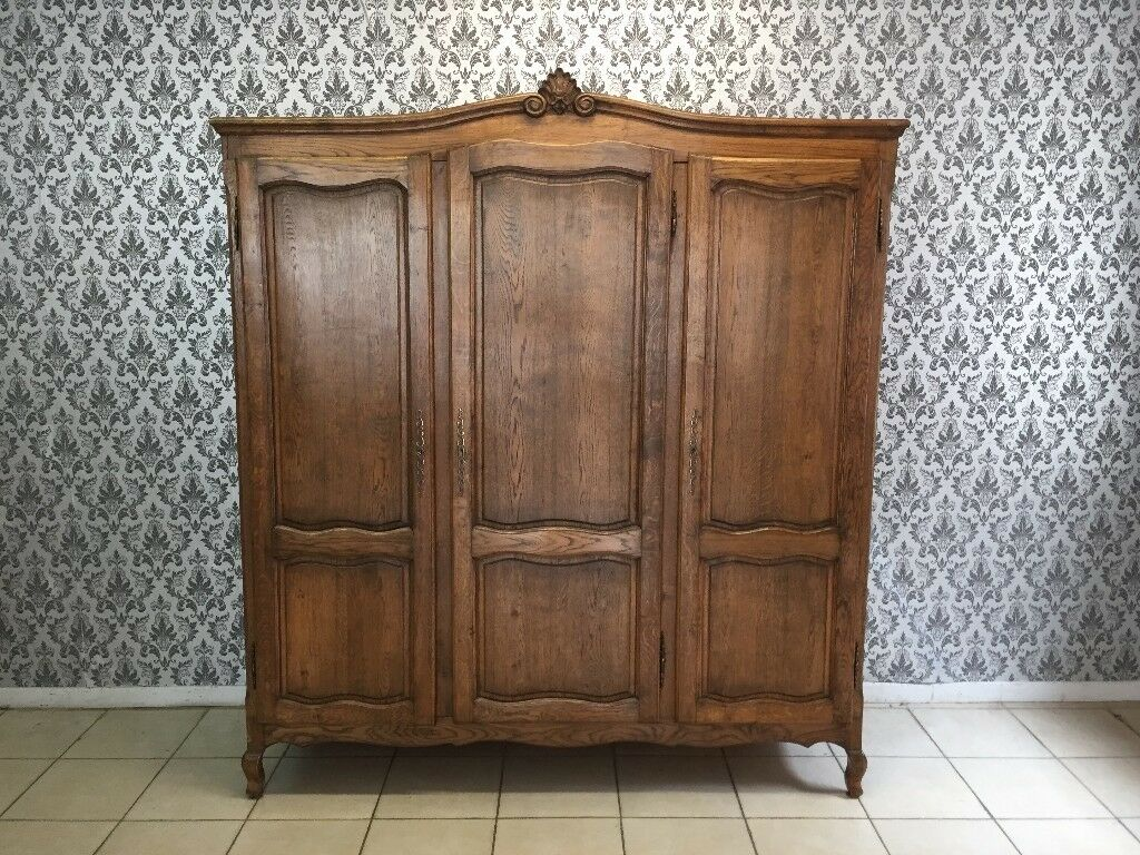 Wardrobe 3 Door Oak Louis Xv French Style In Goudhurst Kent