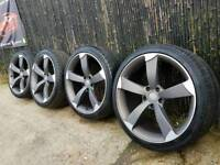 Rare 20 Inch Rotor Rotors wheels and tyres S Line fits Vw Transporter T4 T5 5x 120
