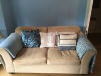 Marks & Spencer Large Cream Two Seater Settee. Smoke/Pet free home. Very good condition. Buyer colle