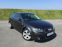 LOVELY AUDI A3 2.0 FSI SPORT 3 DOOR HATCH IN GREY WITH FULL SERVICE HISTORY AND A LONG MOT!