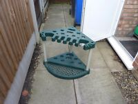Corner tool stand for Shed