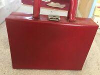 red vintage handbag