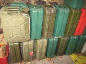 Vintage Military 20 Litre Metal Jerry Cans LAST FOUR