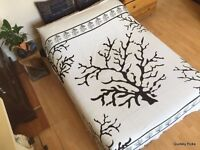 Indian Bare Autumn Tree Double Bedspread Wall Hanging Bed Throw Tapestry Hippie