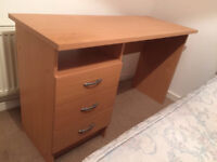 Personal Desk - Wood Effect - Barely Used - Staples RRP £50 - Disassembled for Collection