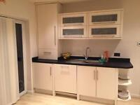 Gloss kitchen units