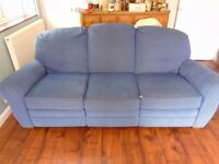 Blue Alders Three seater & Two Seater reclining Sofas free buyer to collect.
