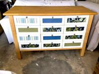 Large Pine 12 Drawer Chest Of Drawers. Excellent Condition.