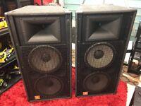 """JBL SR4733A PA Speakers. JBL Professional. 15"""" JBL 2226 Drivers. 1.5"""" JBL 2447 Tweeters."""