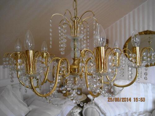 S lken kronleuchter vergoldet blei kristall l ster gold in - Ebay kleinanzeigen kronleuchter ...