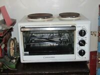 cookworks mini oven and hob 4 months old