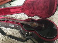 Takamine GF15CE-BLK FXC Cutaway Electro Acoustic Guitar, Black