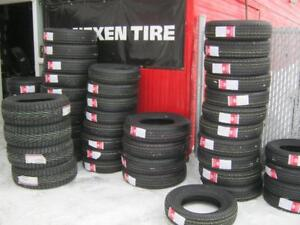 Vaste inventaire de pneus de remorque, roulotte..
