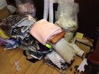 Cloth/Fabric, assorted, quantity of.