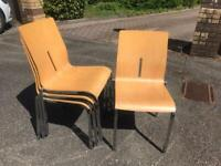 Light Wood stackable office / dining chairs - £15.00 each