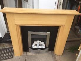 Gas fire fireplace and surrounding