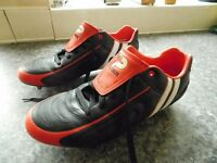 PATRICK FOOTBALL BOOTS AS NEW CON SIZE 12 PLUS TWO FREE PAIRS OF ADDIDAS WARRIORS SIZE 11