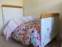 Nursery bedroom furniture- cotbed, wardrobe, changer/shelf unit,