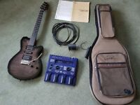 Godin XTSa with Roland GR09 synth