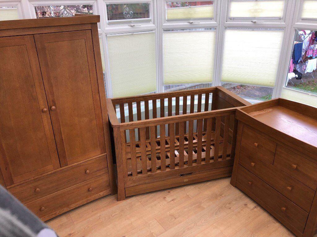 silver nursery furniture. Silver Cross, Canterbury 3-piece Nursery Furniture Set In Solid Oak. C