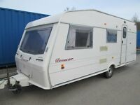 BESSACARR CAPRI 500/5 TOURING CARAVAN 4/5 BERTH OPTIONAL FIXED BED! LIGHTWEIGHT CARAVAN!