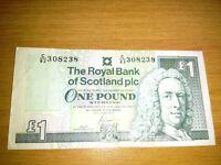 The Royal Bank of Scotland plc One Pound Banknote