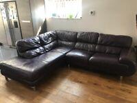 Large rhs corner sofa