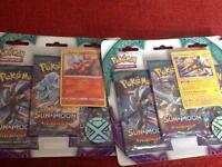Pokemon cards sun and moon guardians rising 3pack turtonator and vikavolt