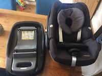 Maxi Cosi FamilyFix IsoFix base with free Pebble car seat