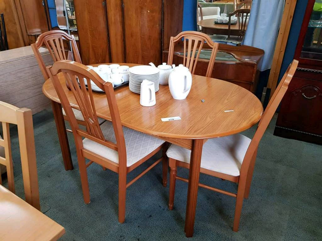 Extendable Wooden Tables With 4 Chairs