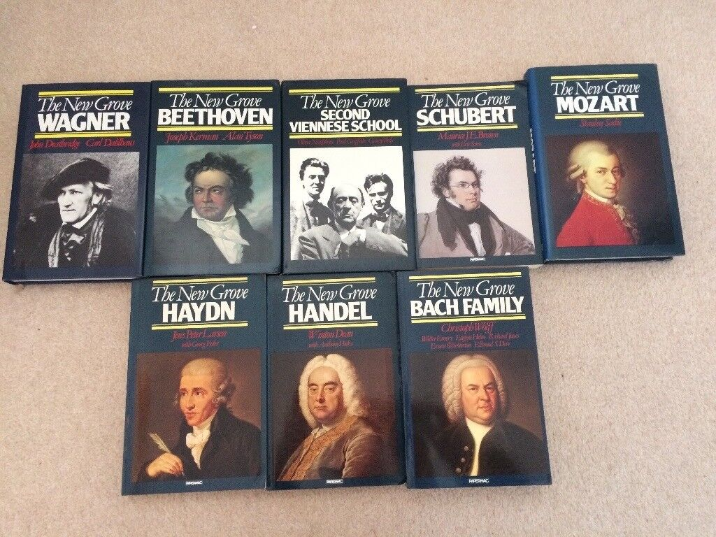 The New Grove Composer Biographies - 19 2nd hand books in good condition; paperback and hard back
