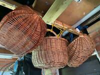 Vintage old wicker shopping Baskets