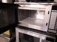 2 x Sharp R24-AT 1900w stainless steel Microwaves. 20 memory settings